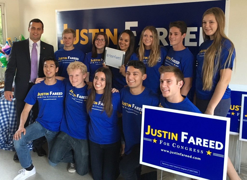 Justin Fareed and youth supporters