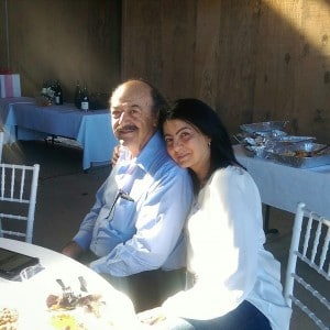 Katcho Achadjian with wife Araxie.