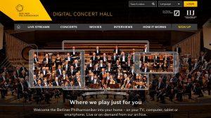 Berlin Phil Digital Music Hall Website