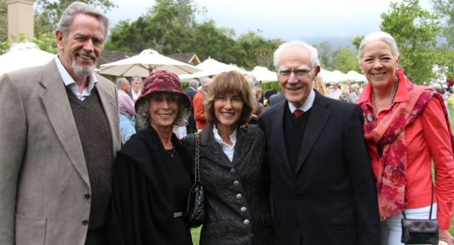From left, Betty and Stan Hatch, Anne and Michael Towbes, and Janet Garufis at an Ensemble Theater fundraiser. © Melissa Walker