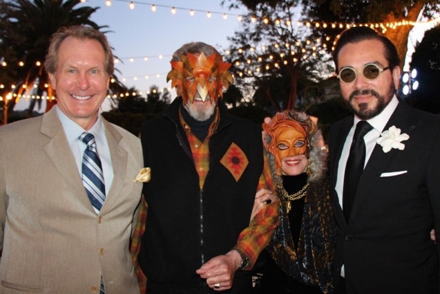 From left, Dan Lausbach, Stan Hatch and wife Betty, and Roger Durling at a Teddy Bear Cancer Foundation gala. © Melissa Walker