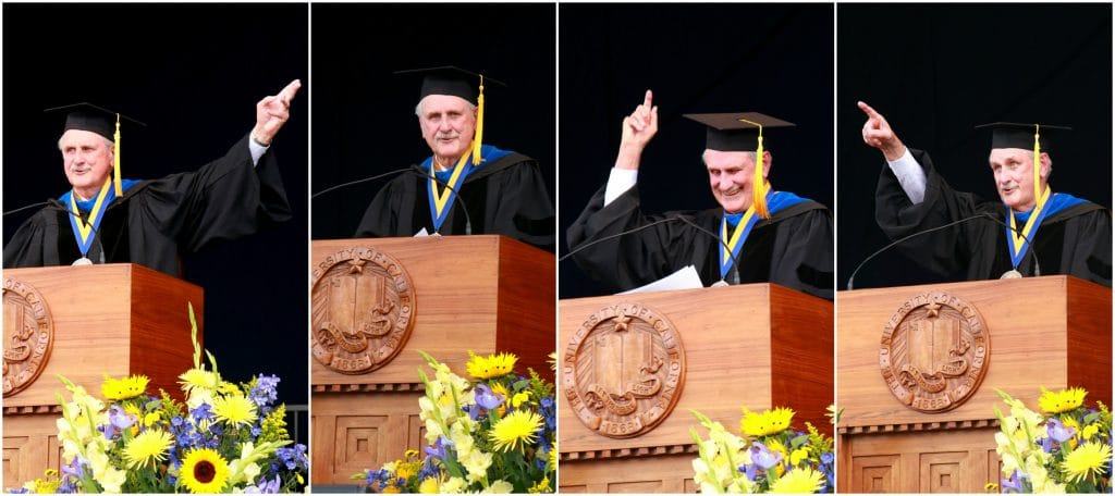 Duncan Mellichamp Commencement Keynote at UC Santa Barbara, 2016. Photo courtesy of UCSB and Peter Allen.