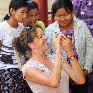 Alethea with Burmese Women