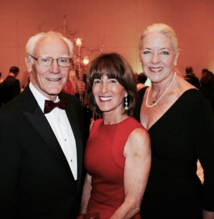 Montecito Bank & Trust, owner and Chairman, Michael Towbes; Philanthropist, Anne Towbes; and Montecito Bank & Trust, President & CEO, Janet Garufis. Photo by Melissa Walker.