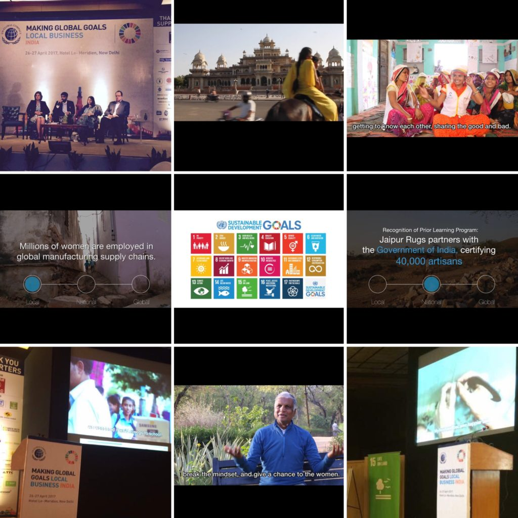 Jaipur Rugs Foundation and impactmania's video was featured at the recent UN Global Compact Conference.