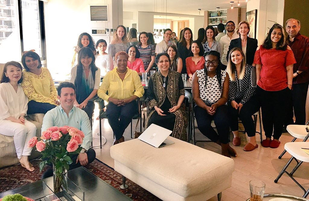 Geeta Mehta and the Asia Initiatives team. Photo by impactmania.