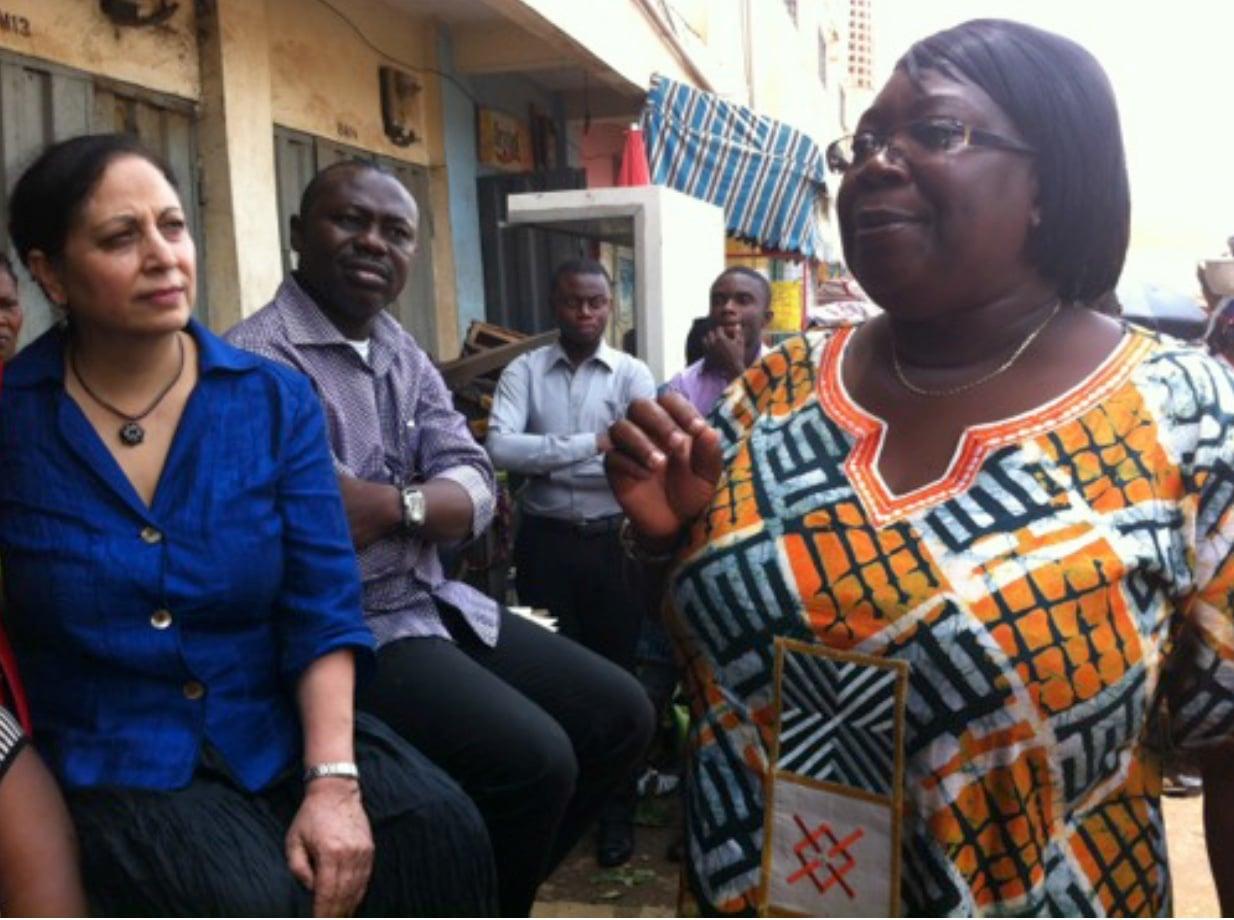 Geeta Mehta launching Social Capital Credits in Ghana (2014).