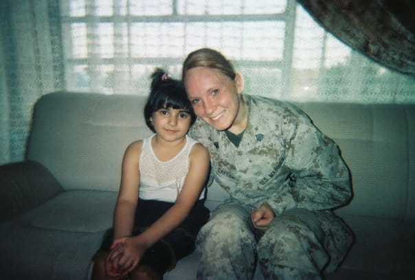 Jodie Grenier during her time of service in the U.S. Marine Corp.