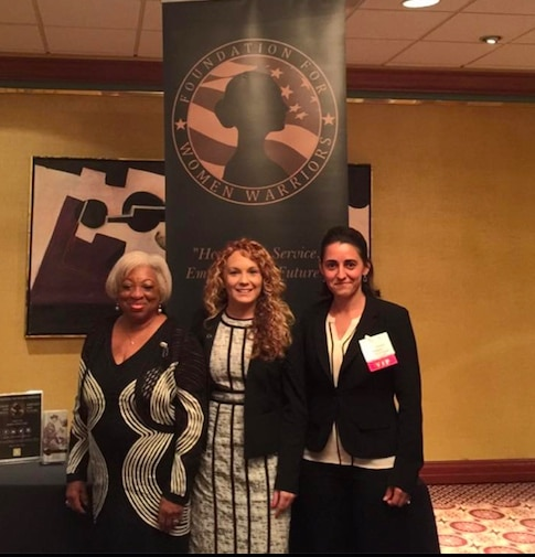 Foundation for Women Warriors, Jodie Grenier in the center.