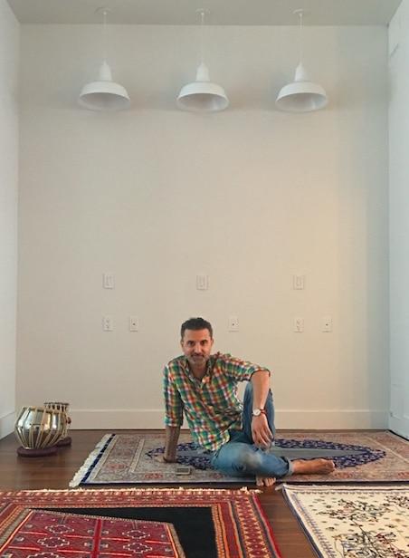 Saks Afridi at his studio, New York, NY.