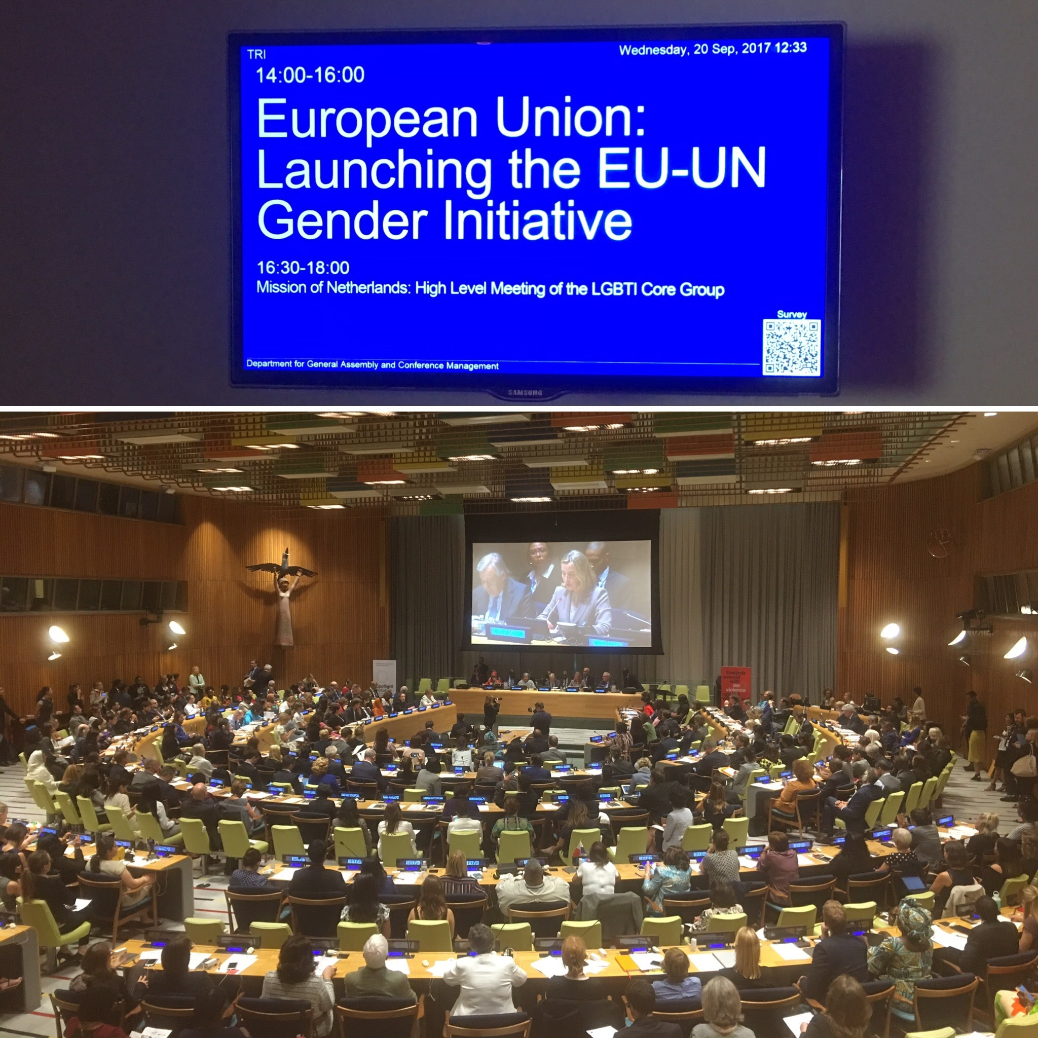 The Official Launch of the EU and UN Spotlight Initiative: elimination of gender violence. United Nations, 2017. impactmania