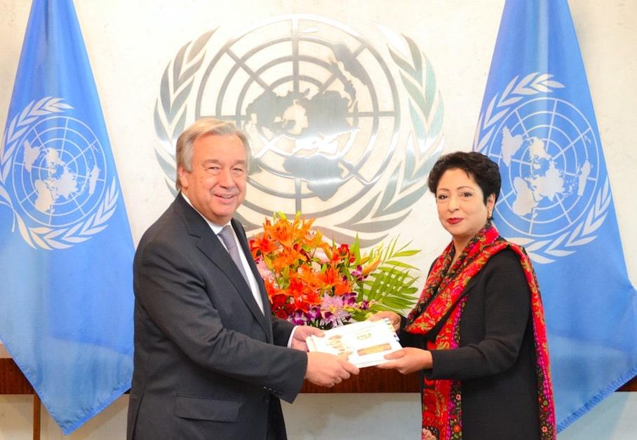 Maleeha Lodhi and UN Secretary-General António Guterres