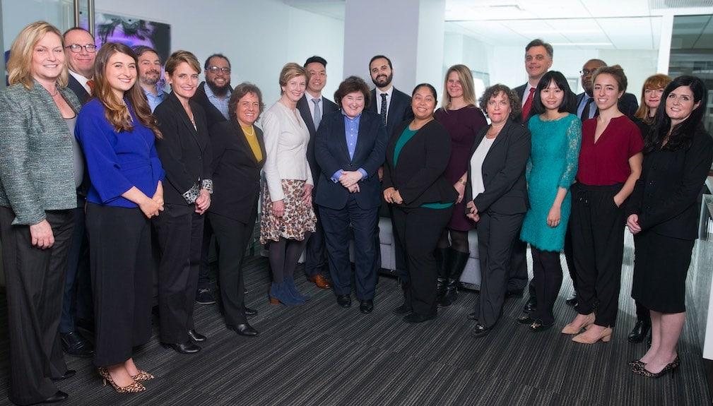 Erika Karp (center) and the the Team at Cornerstone Capital.