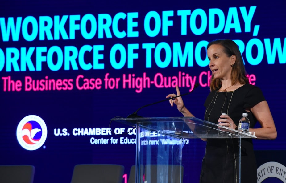 Dr. Laura Jana Speaking at the U.S. Chamber of Commerce.