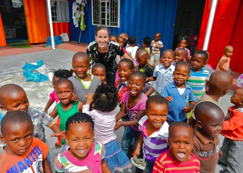 Dr. Laura Jana visiting a crèche in Dunoon Township outside of CapeTown, South Africa.