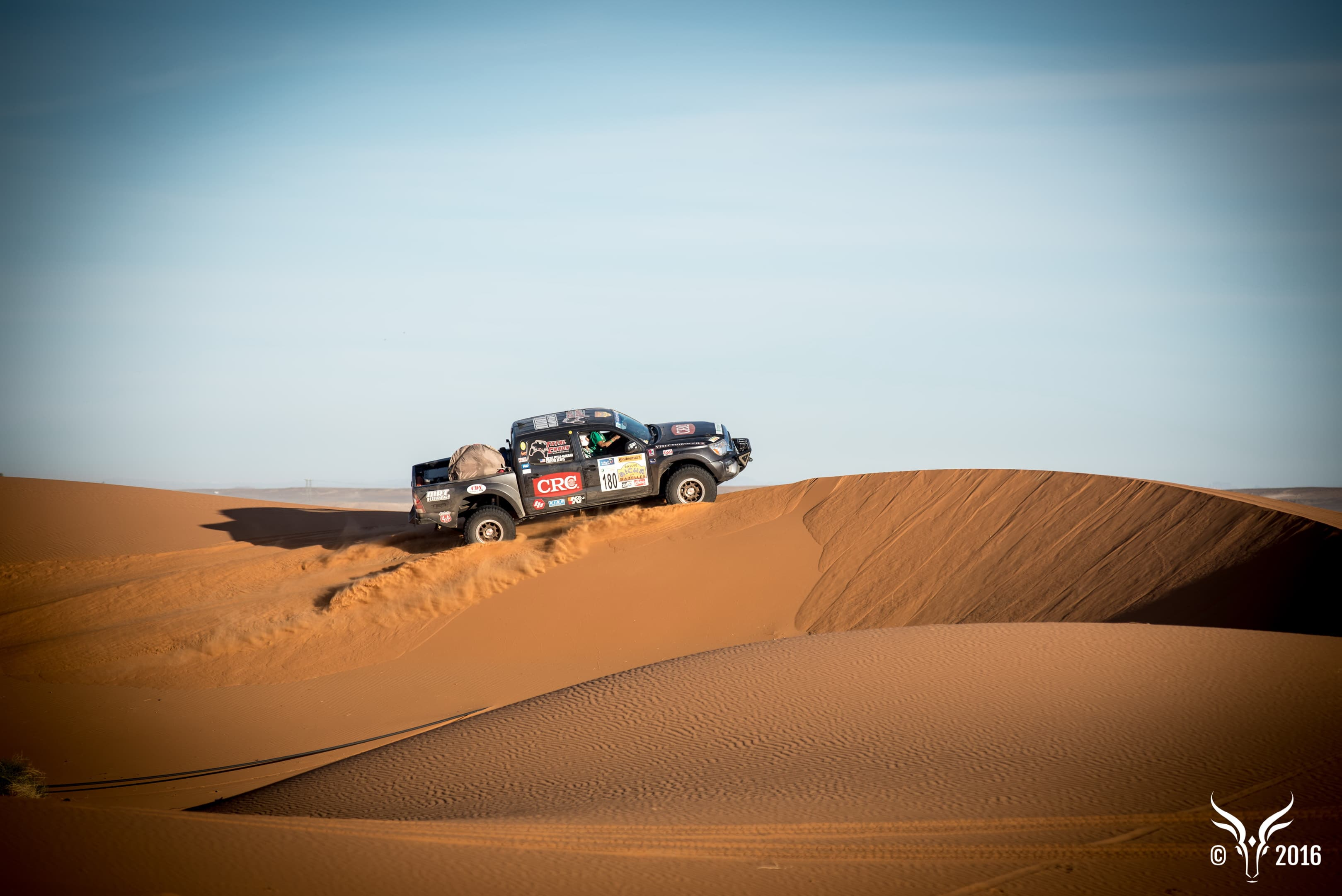 A completely off-road rally for women-only in the Moroccan desert. Photo by Rallye Aïcha des Gazelles du Maroc.