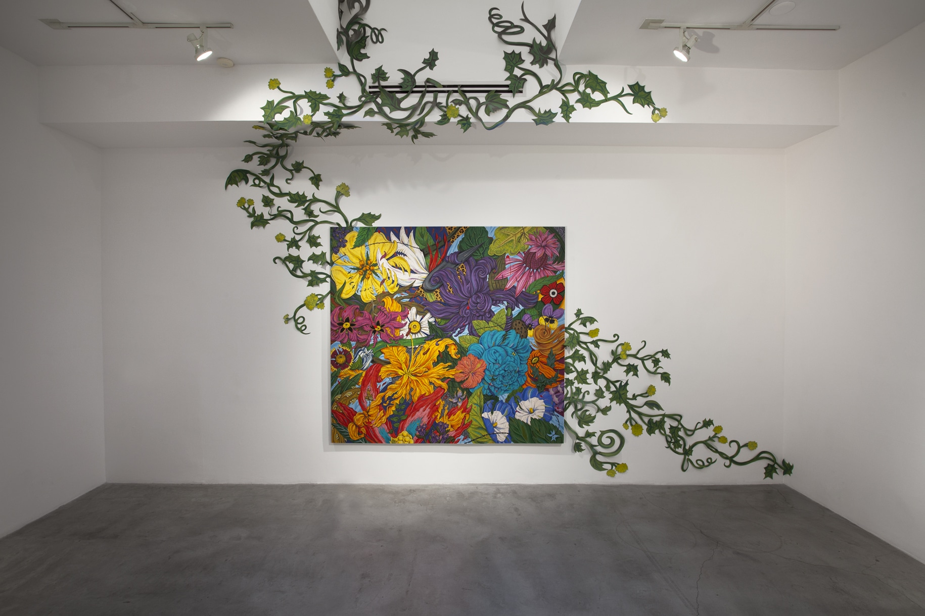Penelope Gottlieb's work in the Edward Cella Gallery, Los Angeles.