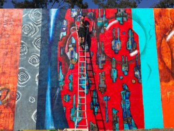 Gus Harper's Work on Walls around the World